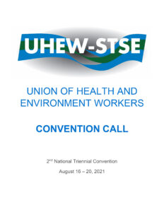 UHEW 2021 Convention Call: 2nd National Triennial Convention Call Cover Page